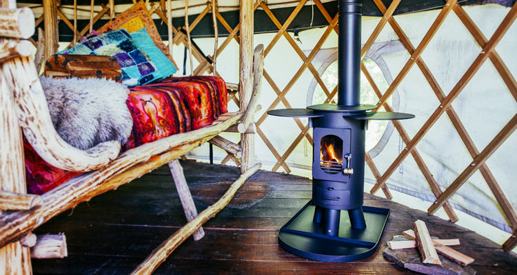 Portable wood-stove collapses small enough to fit in your backpack to heat tents vans and tiny homes & Portable wood-stove collapses small enough to fit in your backpack ...