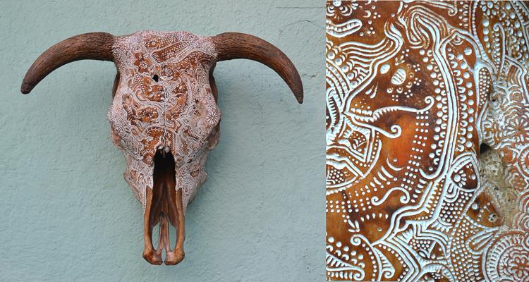 1_Artist uses bones and skulls