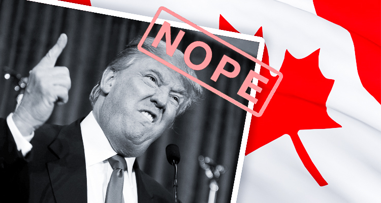 """canada dating website trump The dating service wants to """"make dating great again"""" and """"make it easy for americans to find the ideal canadian partner to save them from the unfathomable horror of a trump presidency."""