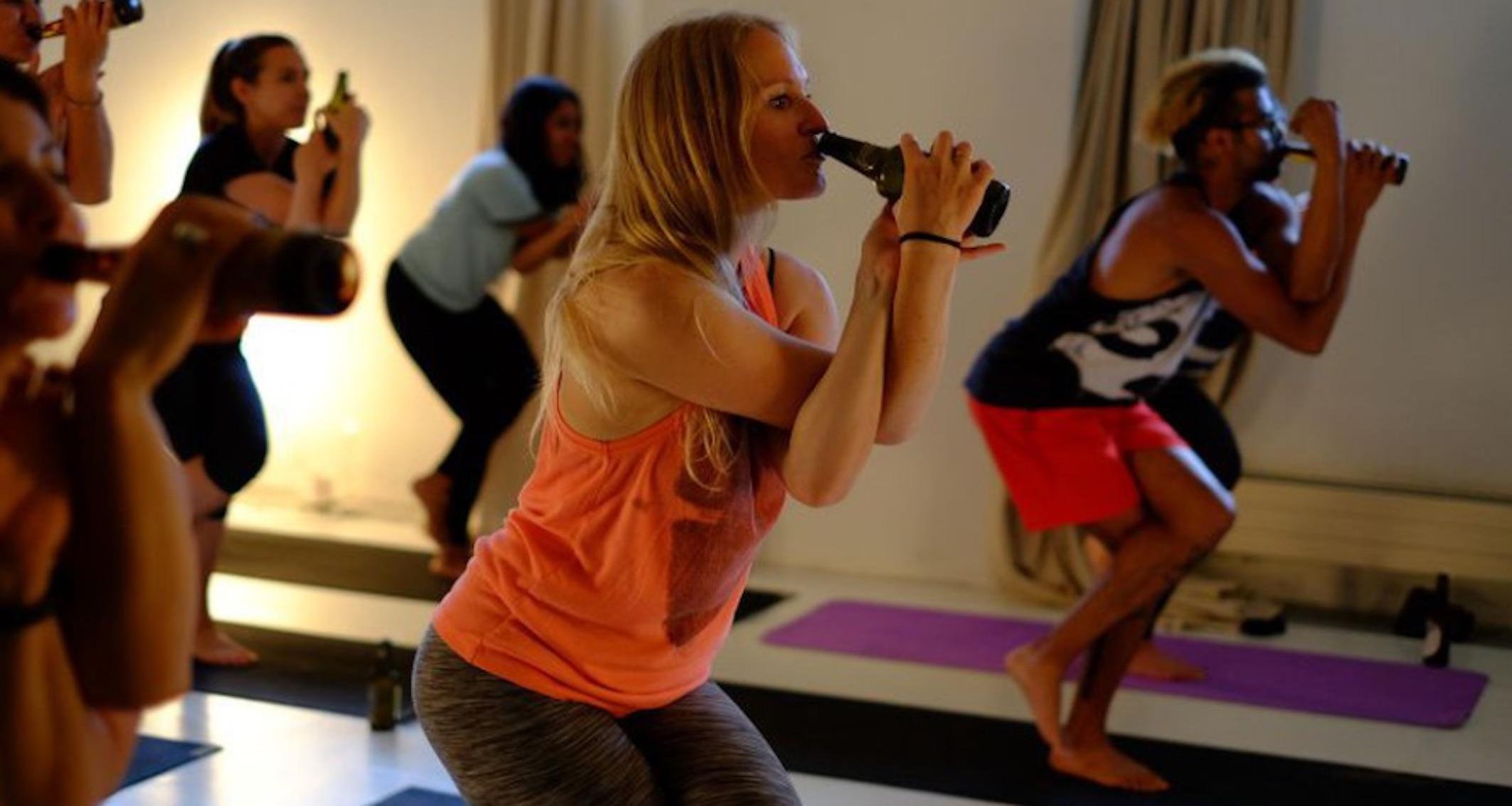 beer yoga