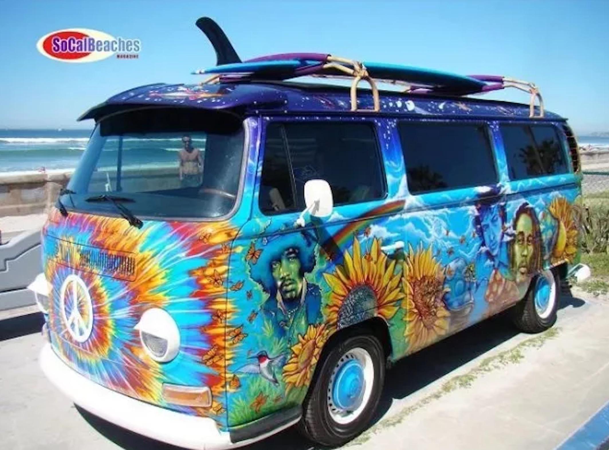 iconic hippie vans