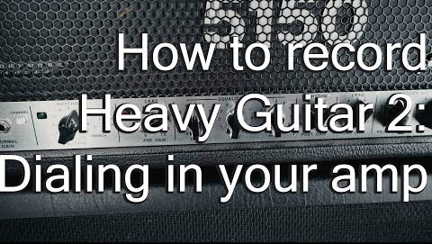 How to record heavy guitar: Glenn Fricker