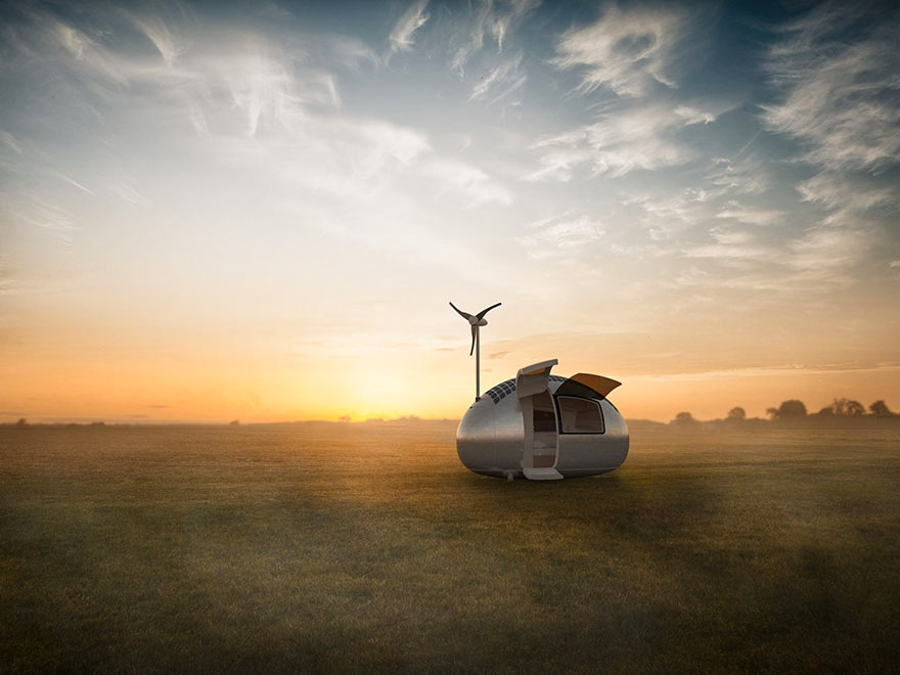 1_Solar powered Ecocapsule