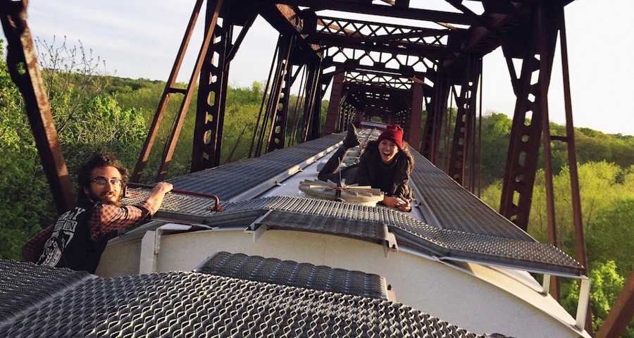 This 26-year-old makes a living by train-hopping and capturing it