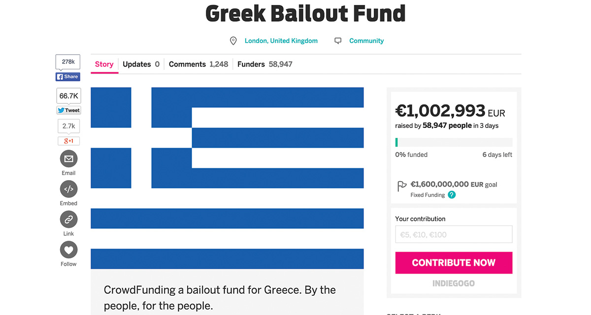 Greek Crowdfunding Bailout July 1