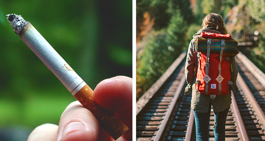 1_Cigarette butt backpacks