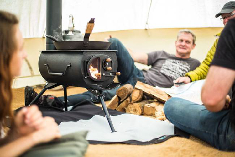 Portable Wood Stove Collapses Small Enough To Fit In Your