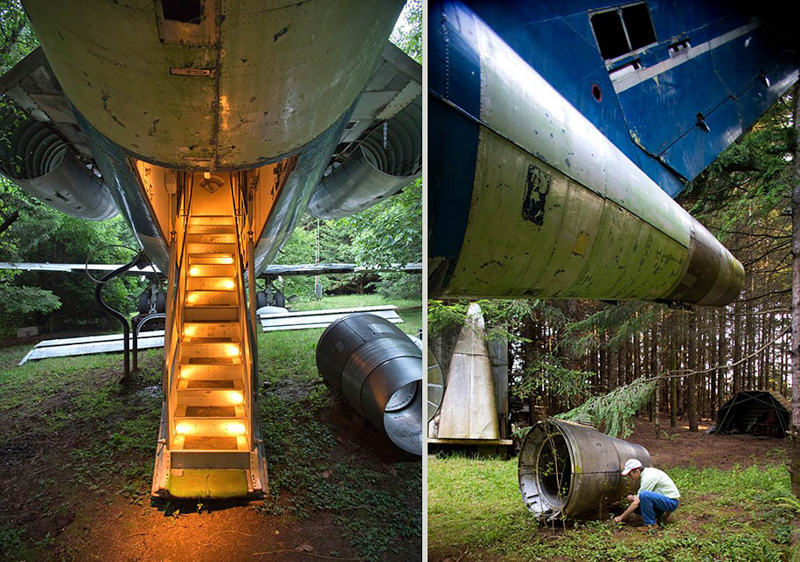 2_abandoned-airplane-house-pacific-woods Guest House Made Out Of A Plane on a house as a plane, house built into a plane, han formed into a plane, home made air plane, house made of hay,