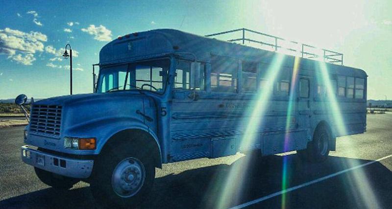 1_School bus converted into RV