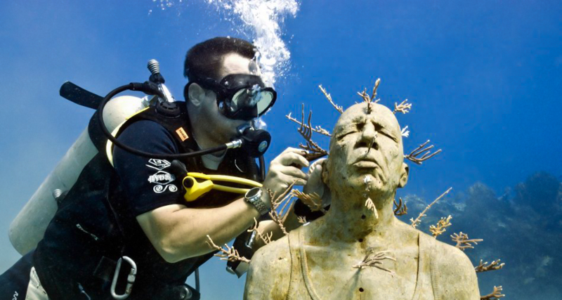 1_underwater sculpture museum