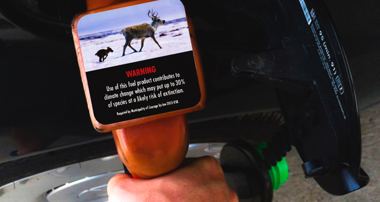 1_Climate change warning labels on gas pumps
