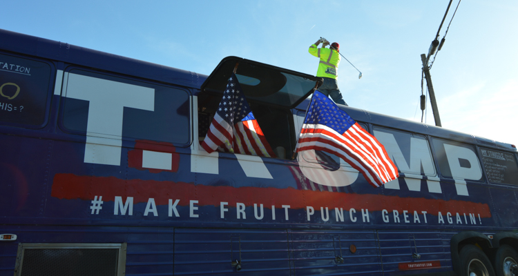 1_Artists Are Using Trump's Old Bus to Redefine His Brand