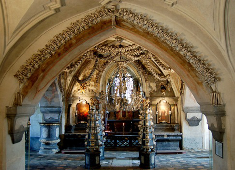 4_church is decorated with over 40,000 human skeletons