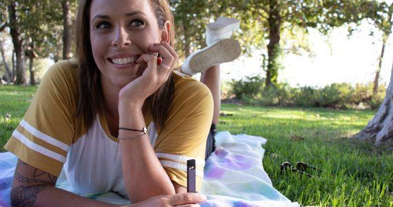Woman with Vape Pen